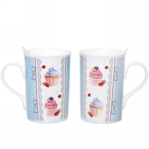 Чайный набор 4 предмета ″Сластена″ (2кружки 300мл+2ложки) 5 купить оптом и в розницу