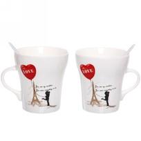 Чайный набор 4 предмета ″Любовь″ (2кружки 300мл+2ложки) купить оптом и в розницу