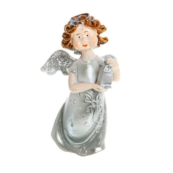 Фигурка ″Ангелочек серебряный″ с фонариком 7*4,5см (цена за 1шт)TS140316АВ купить оптом и в розницу