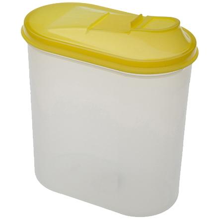Банка для продуктов пластиковая 2л овальная *18 купить оптом и в розницу