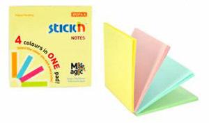 """Бум.с лип.сл. 76*76 Hopax """"Magic Pads"""" пастель 4 ярких цвета (100л) купить оптом и в розницу"""