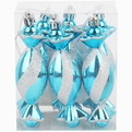 Ёлочные игрушки, набор 6шт, 12см ″Конфета голубая мечта″ купить оптом и в розницу