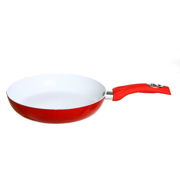 Сковорода ″Селфи-Рубин″ d-28 см 2 мм с керамическим покрытием, силиконовая ручка купить оптом и в розницу