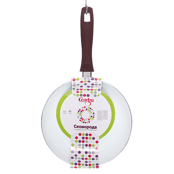 Сковорода ″Селфи-Стиль″ d-22 см 2,5 мм с керамическим покрытием, силиконовая ручка купить оптом и в розницу