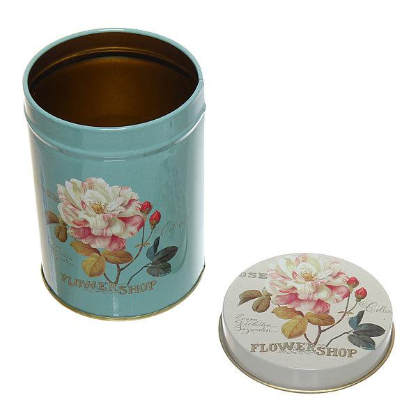 Набор банок для продуктов металлических 10.5х14см, 9х13см, 7,5х11см цветы купить оптом и в розницу