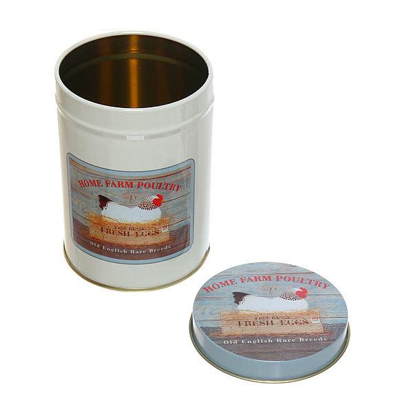 Набор банок для продуктов металлических 10.5х14см, 9х13см, 7,5х1см курица купить оптом и в розницу