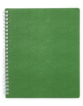 """Тетрадь 80л.кл.гребень HATBER, """"Wood"""" зеленая, пластик.обл. купить оптом и в розницу"""