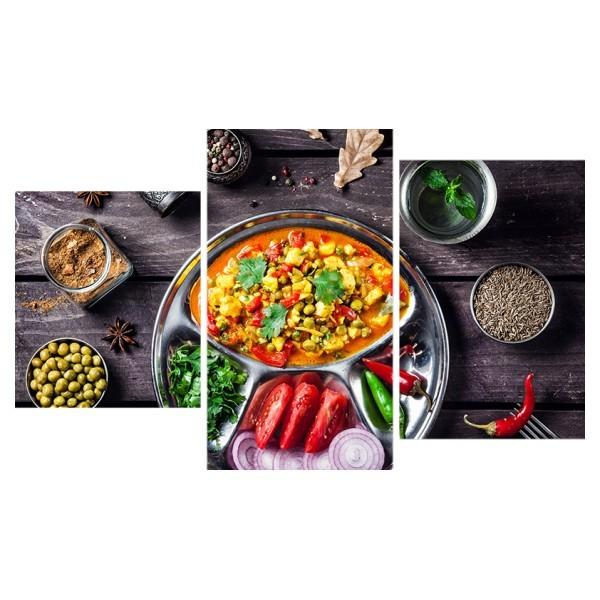 Картина модульная триптих 55*96 Блюдо из овощей 60-01 купить оптом и в розницу