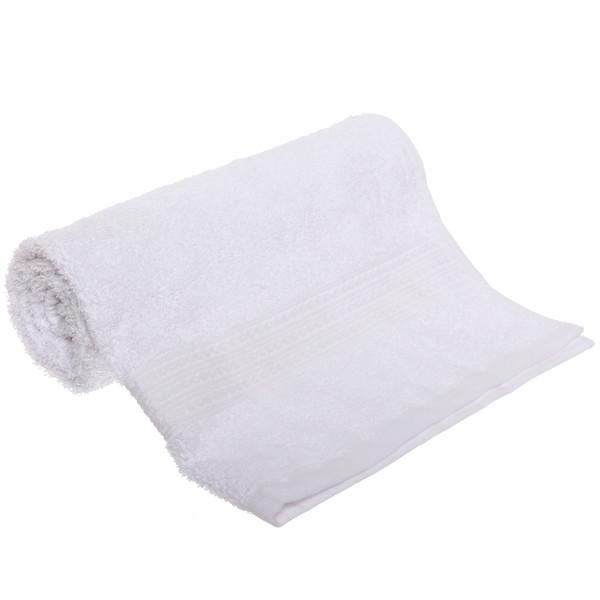 Махровое полотенце 50*90см белое ЭК90 Д01 купить оптом и в розницу