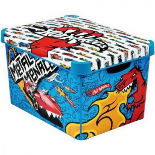 Коробка декоративная STOCKHOLM M голубой /*10 шт Curver купить оптом и в розницу