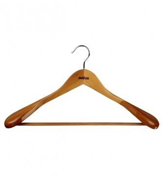 Вешалка гардеробная 45 см деревянная/*24 купить оптом и в розницу
