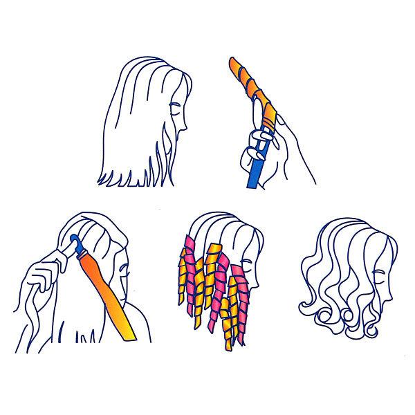 Бигуди magic leverage ″Волшебные спиральки″ 18шт (длина микс) купить оптом и в розницу