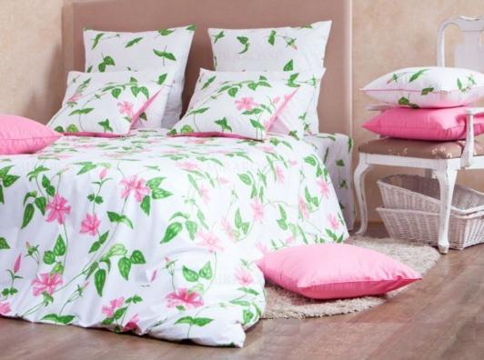 Дуэт перкаль-люкс Veronica pink 3015/1 Хлопковый Край купить оптом и в розницу