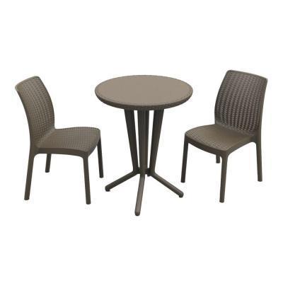 Набор (2 стула +стол) Bistro set, коричневый купить оптом и в розницу