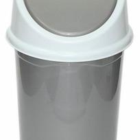 Ведро с подвижной крышкой 4л. (серо/бел)*20 купить оптом и в розницу