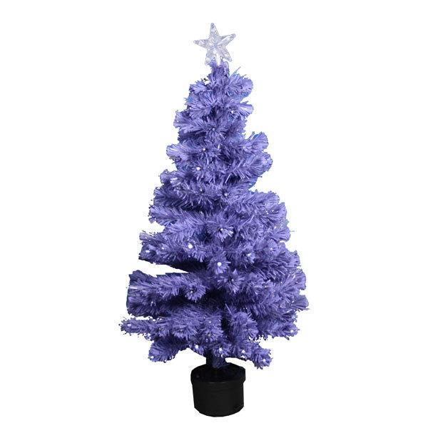 Елка светодиодная 120 см фиолетовая оптоволокно 125LED купить оптом и в розницу