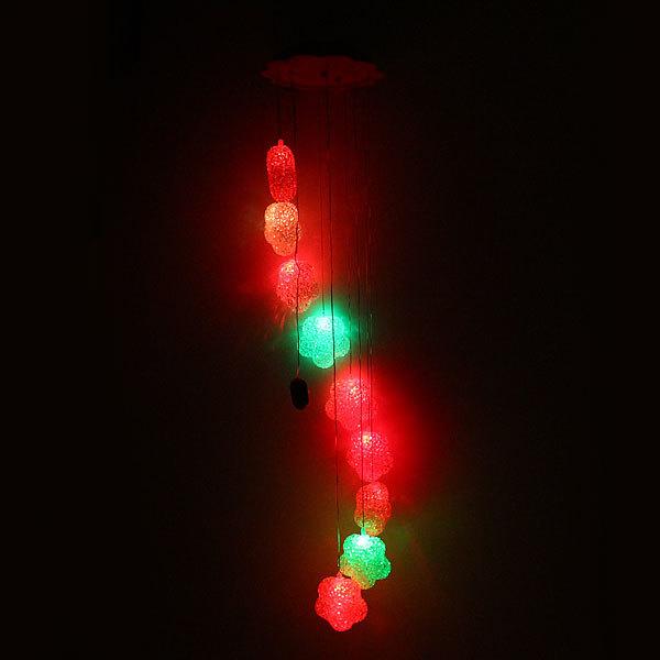 Музыка ветра ″Цветок-3″ 9 шт на батарейках купить оптом и в розницу