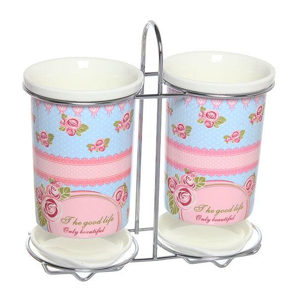Подставка для кухонных приборов двойная ″Романтика″ купить оптом и в розницу