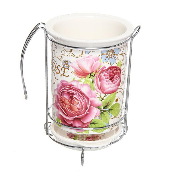 Подставка для кухонных приборов ″Букет роз″ купить оптом и в розницу