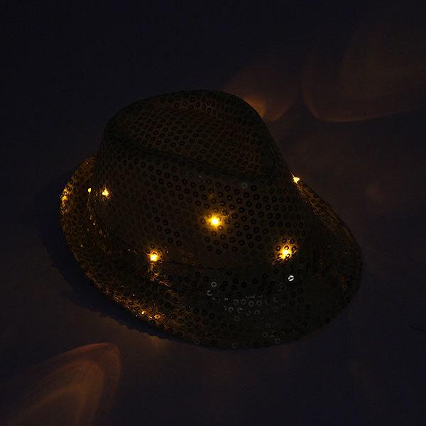 Шляпа карнавальная ″Диско″ светодиодная, золото купить оптом и в розницу