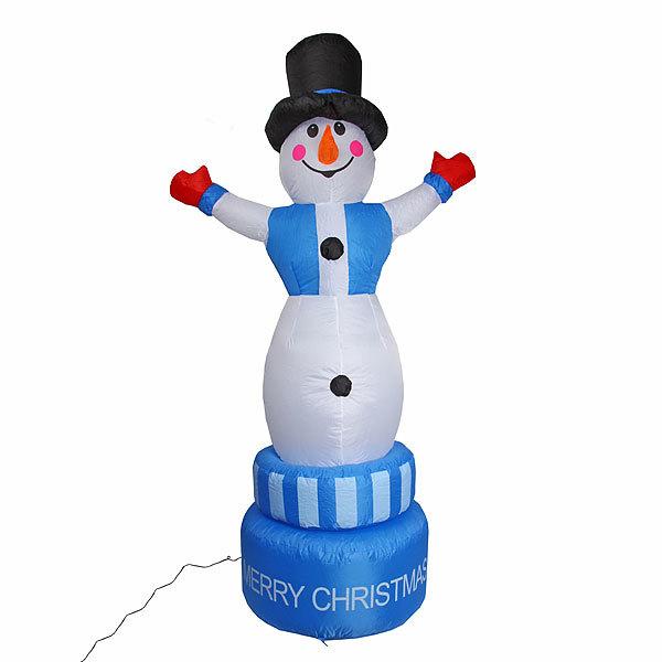 Фигура надувная Снеговик вращающийся 2,1м купить оптом и в розницу