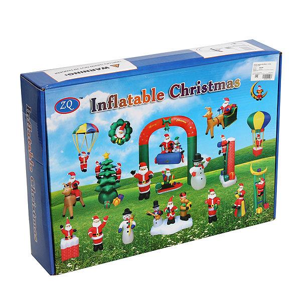 Фигура надувная ″Дед Мороз с синим мешком″ 2,1м купить оптом и в розницу