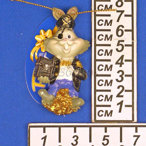 Магнит из полистоуна ″Кролик пират″ купить оптом и в розницу