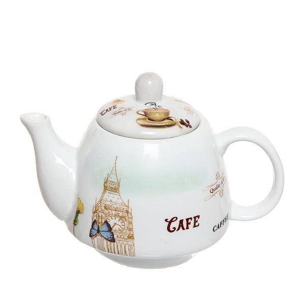 Набор чайный керамический 2 предмета (чайник 250мл +кружка 250мл) в подарочной упаковке купить оптом и в розницу