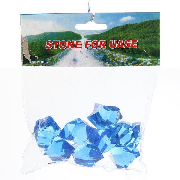 Украшение декоративное ″Кристалл макси″ голубой 100гр 07 купить оптом и в розницу