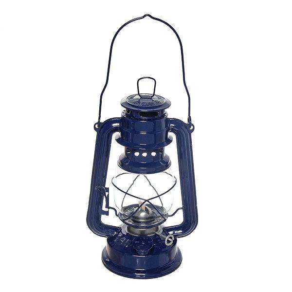 Лампа керосиновая переносная 110мл 19см,цвет синий купить оптом и в розницу