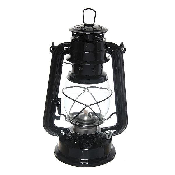 Лампа керосиновая переносная 180мл 24,5см,цвет черный купить оптом и в розницу