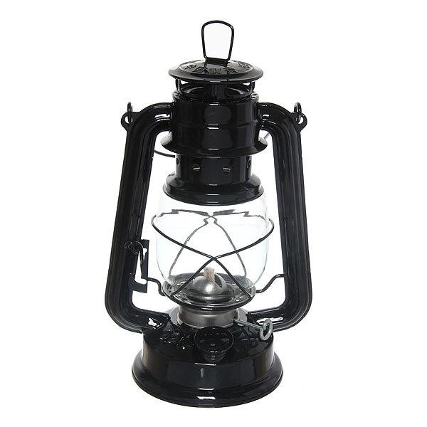 Лампа керосиновая переносная 280мл 28см,цвет черный купить оптом и в розницу