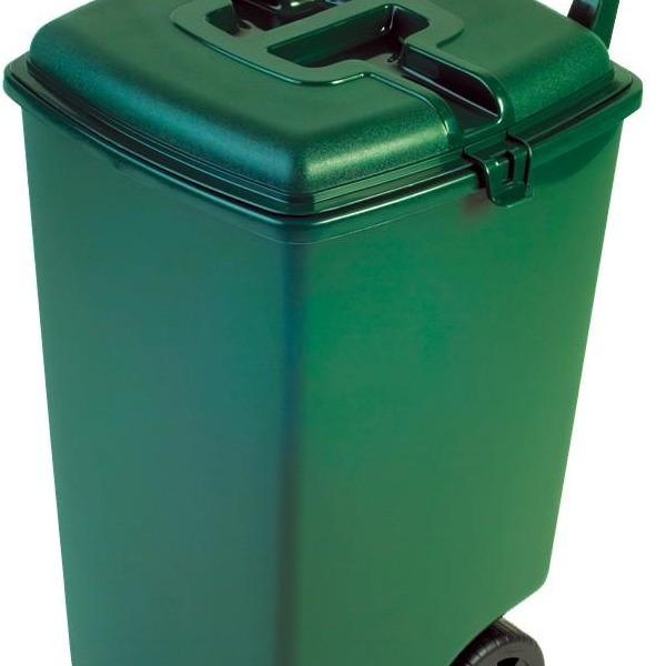 Контейнер для мусора на колесах 90л зеленый Curver/3 шт купить оптом и в розницу