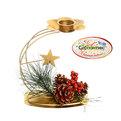 Подсвечник ″Новогодняя Сказка″ягодки 15*14см купить оптом и в розницу