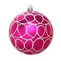 Новогодние шары (2шт) d-10см розовый/голубой LR1006Q-221 купить оптом и в розницу