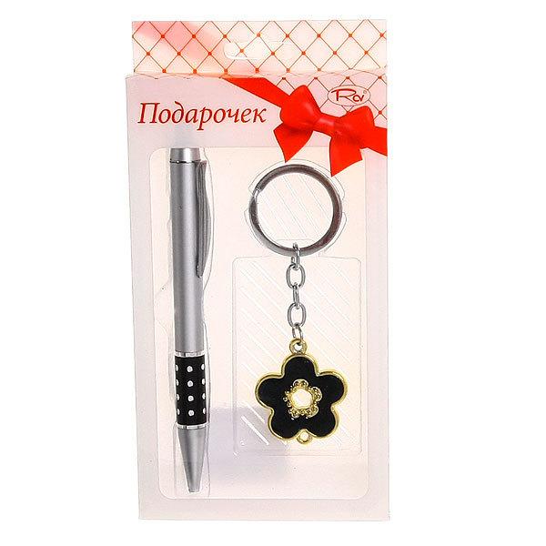 Подарочный набор (ручка, брелок ″Цветочек″) купить оптом и в розницу