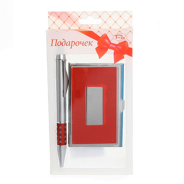 Подарочный набор (ручка, визитница) купить оптом и в розницу