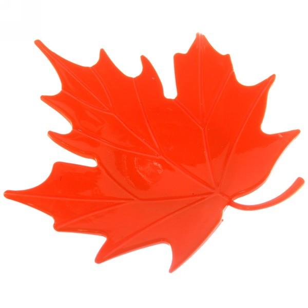 Мыльница ″Кленовый лист″ 14,5х15 оранжевая купить оптом и в розницу