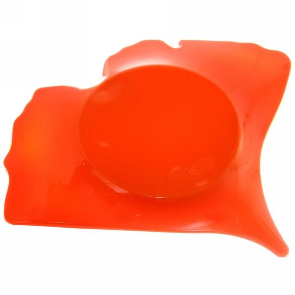 Мыльница ″Листик″ 13х15 оранжевая купить оптом и в розницу
