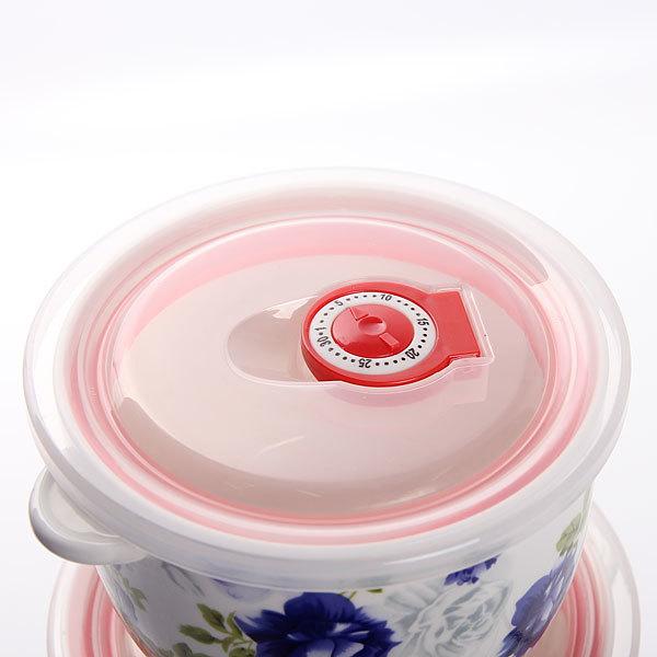 Набор салатников керамических 3шт с крышками ″Розалия″ купить оптом и в розницу