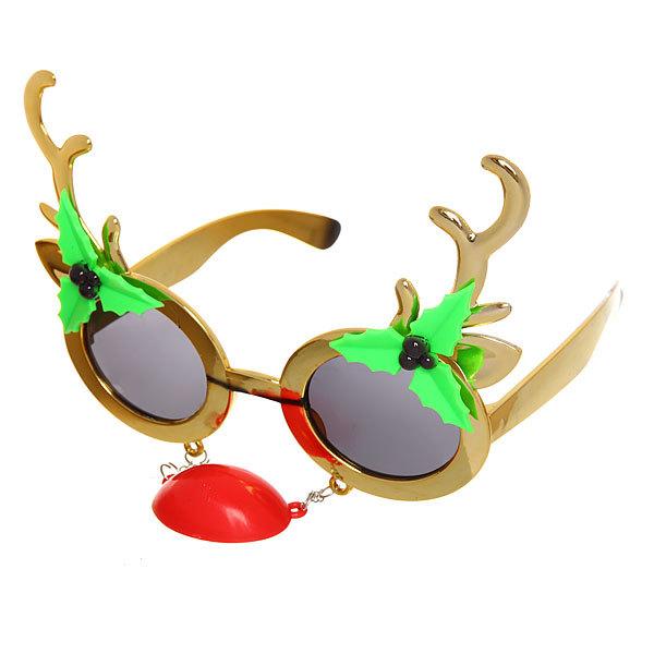 Очки карнавальные ″Рождественский олень″ 1525-9 купить оптом и в розницу