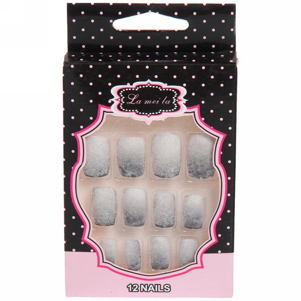 Ногти накладные в пластиковой коробке ″Модный маникюр″ бархатный лак купить оптом и в розницу