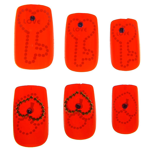 Ногти накладные в картонной коробке ″Модница - блестки″, с маникюрными палочками, без клея купить оптом и в розницу