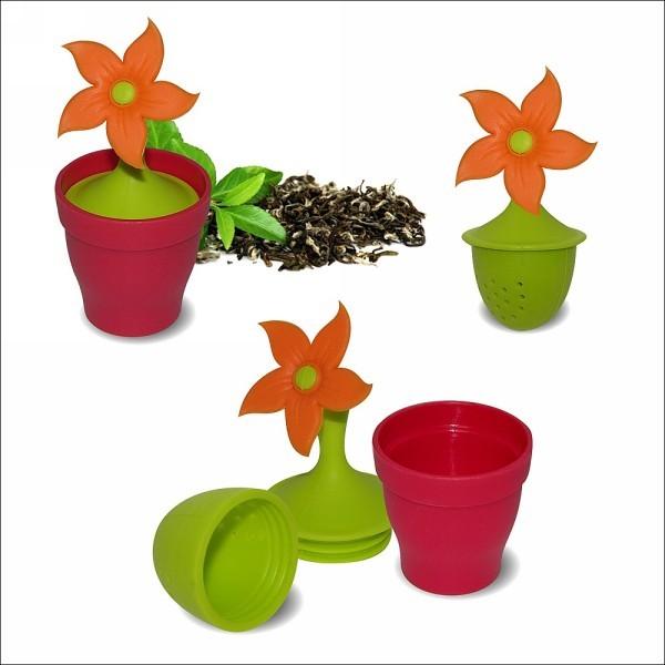 Ситечко для чая силиконовое ″Цветок″ с подставкой купить оптом и в розницу