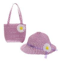 Шляпа в наборе с пляжной сумочкой ″Солнечное лето″ фиолетовый цвет 809-7 купить оптом и в розницу