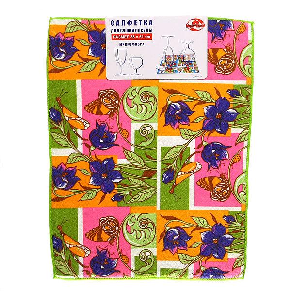 Салфетка-коврик для посуды Цветочки 38*51см HC87-111 купить оптом и в розницу