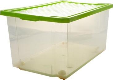 Ящик дляхранения Optima 57л на роликах*5 купить оптом и в розницу