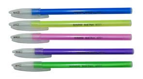 """Ручка шар.YIWU """"Sunrise"""" 0,7мм синяя, полупрозр. корпус флуор. ассорти купить оптом и в розницу"""
