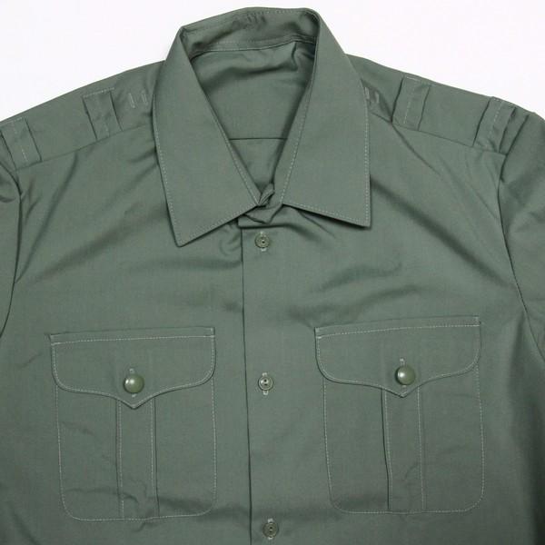 Рубашка форменная с длинным рукавом,цвет оливковый,р. 54/182 купить оптом и в розницу