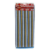 Набор полотенец 2 шт., с полосками и вафельное, хлопок, 46*72 см купить оптом и в розницу